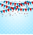 Party flags abstract USA background with confetti vector image