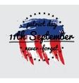 Patriot day label or baner vector image