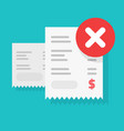 payment transaction bill declined or money vector image vector image