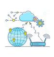 personal cloud vector image vector image