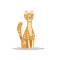 red short-haired cat with light spots on body and vector image vector image