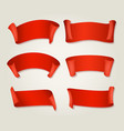 retro red silk ribbons vector image