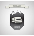RV and caravan park logo badges Outdoor theme vector image vector image