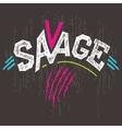 Savage t-shirt graphics vector image vector image