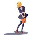 schoolgirl isolated vector image
