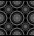 seamless black abstract geometric oriental pattern vector image