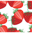 seamless pattern strawberrys design colorful vector image vector image