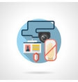 Security services color detailed icon vector image
