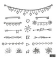 set hand drawing elements vector image vector image