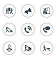 set of simple help icons vector image vector image