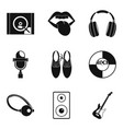 sight icons set simple style vector image vector image