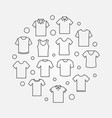 t-shirt round tshirt symbol vector image vector image