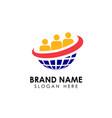 teamwork logo design template creative people vector image