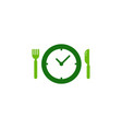 time food logo icon design vector image