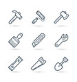 tools line icons pack for construction vector image vector image