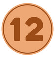 twelve bronze coin vector image vector image