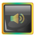 volume up grey icon with colorful details on vector image vector image