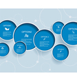 Web design with blue bubbles vector | Price: 1 Credit (USD $1)