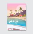 Welcome summer house hotel palm tree beach badge