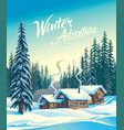 winter forest day vector image vector image