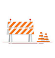 construction fencing and cones for indicating vector image