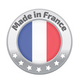 Made in France badge silver vector image
