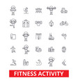 fitness exercise gym keep fit yoga vector image