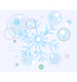 abstract christmas snow flake and balls vector image vector image