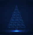 abstract christmas tree glowing particles vector image vector image