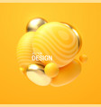 abstract composition with 3d spheres cluster vector image vector image