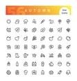 autumn line icons set vector image