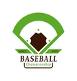 Baseball tournament professional badge vector image vector image