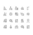 biochemistry line icons signs set vector image vector image