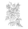 black flowers vector image vector image