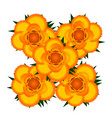 bouquet of yellow roses icon vector image vector image