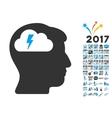 Brainstorming Icon With 2017 Year Bonus Symbols vector image vector image