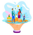 businesswoman businessman shake hand catering cafe vector image vector image