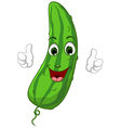 Cartoon cute Cucumber giving thumbs up vector image