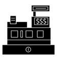 cash machine - shop register icon vector image vector image