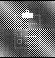 checklist sign icon hole in vector image vector image