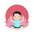 children yoga logo children yoga logo vector image vector image