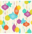 Christmas decoration pattern on light background vector image