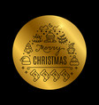 christmas golden banner with shine effect vector image vector image