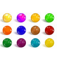 collection of colorful glossy spheres isolated on vector image