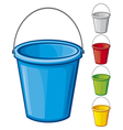 Colored bucket with handle vector image vector image