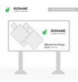 company bill board design with green theme with vector image