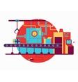 Conveyor design flat vector image vector image