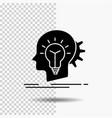 creative creativity head idea thinking glyph icon vector image
