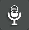 Creative Live music icon Microphone symbol vector image