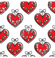 croatian heart souvenir with flowers seamless vector image vector image